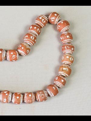 35 perles en terre cuite (Mali)