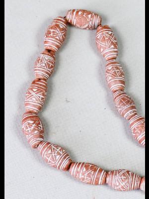 20 perles en terre cuite (Mali)