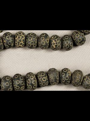 50 perles en terre cuite
