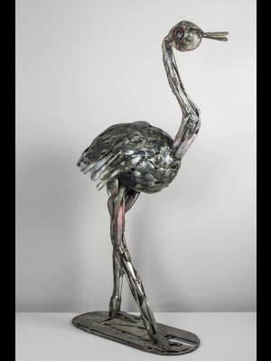 Oiseau en matériaux de récupération