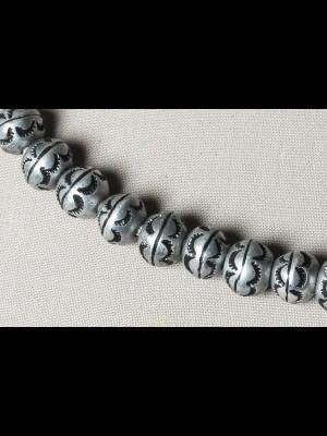 25 perles en aluminium