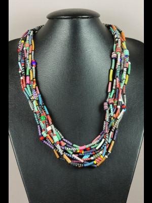 Collier perles en plastique recyclé