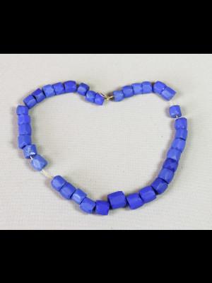 "36 perles de Bohême en verre ""Russian blue"""