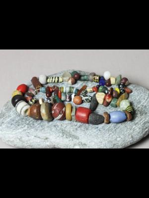83 perles de troc avec l'Afrique (Mali)