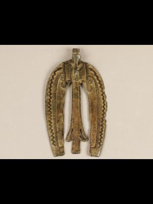 Grand pendentif en bronze (Burkina Faso)