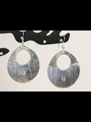 Boucles d'oreilles métal argenté