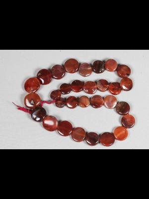30 perles en cornaline