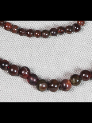 100 perles rondes en cornaline