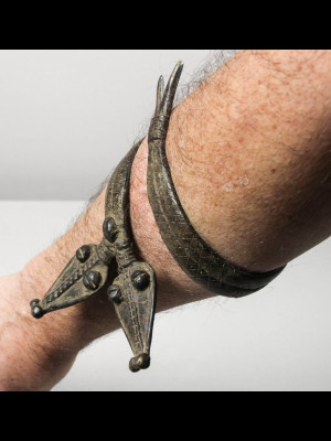 Bracelet gan en bronze (Burkina Faso)