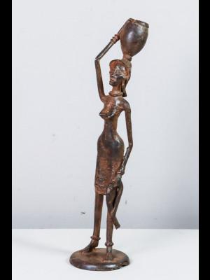 Femme portant un canari sur la tête (Mali)
