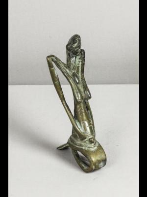 Femme dogon en bronze