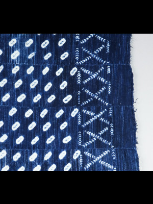 Pagne indigo ancien en coton