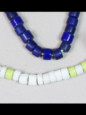 86 perles de troc anciennes en verre