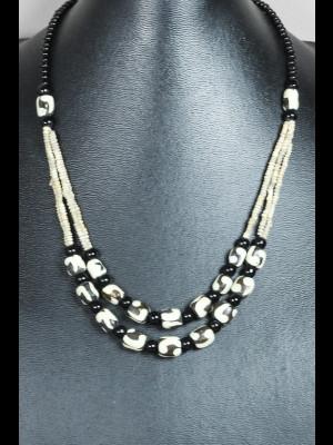 Collier perles en os et terre cuite de Djenné