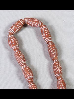 28 perles en terre cuite (Mali)