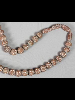 40 perles en terre cuite (Mali)
