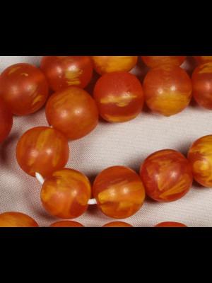 35 perles imitation ambre