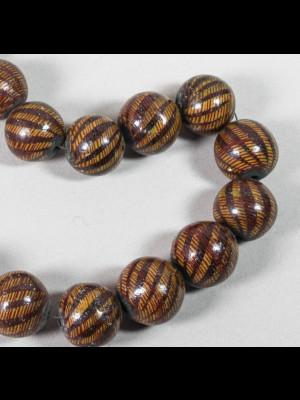 18 perles en terre cuite