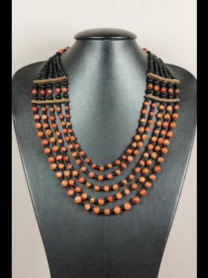 Collier perles en cornaline