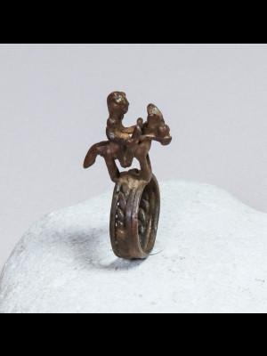 Bague en bronze dogon (Mali)