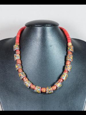 Collier perles millefiori de Venise anciennes