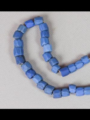 "58 perles de Bohême en verre ""Russian blue"""
