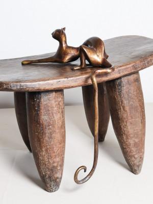 Chat en bronze