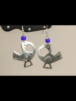 Boucles d'oreilles en métal argenté