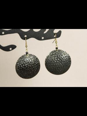 Boucles d'oreilles laiton, cuivre et métal argenté