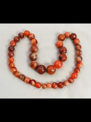 41 perles rondes en cornaline