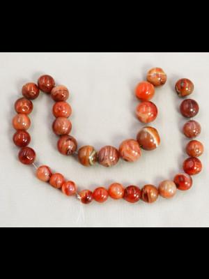 32 perles rondes en cornaline