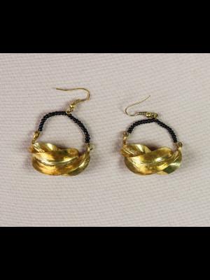 Boucles d'oreilles peul en laiton