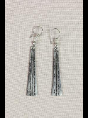 Boucles d'oreilles touareg métal argenté