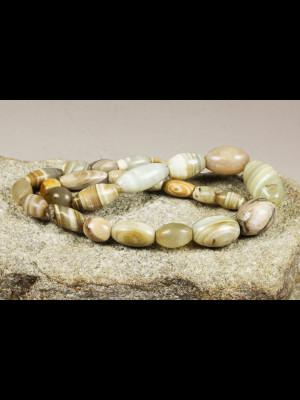 25 perles anciennes en agate