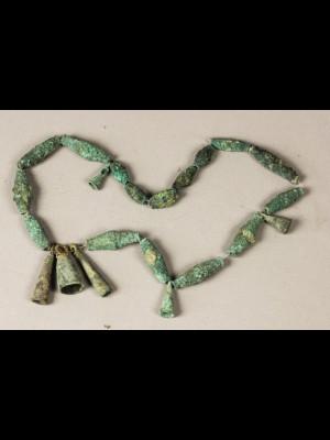 22 perles de fouille en alliage cuivreux