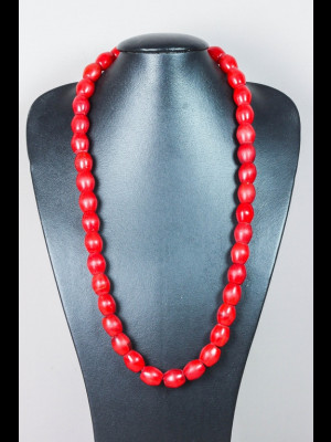 "Collier de 38 perles en verre ""Loubia"" anciennes"