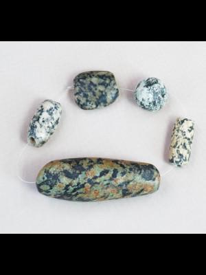 10 fils de perles en terre cuite