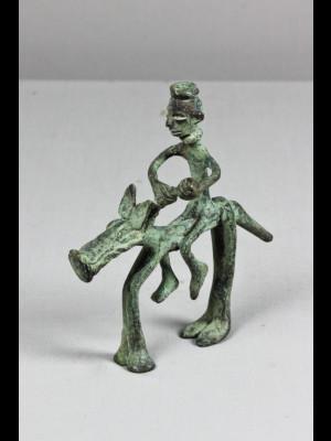 Original cavalier en bronze