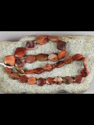 29 perles anciennes en cornaline
