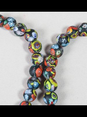 52 perles en verre du Ghana