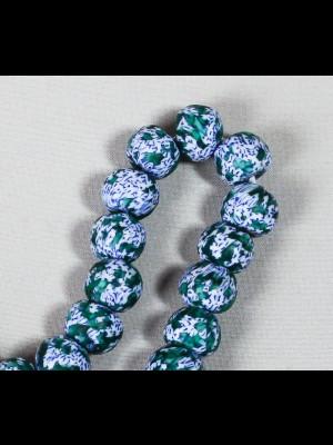 35 perles en verre du Ghana