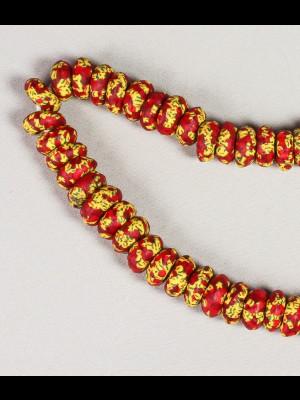 70 perles en verre du Ghana