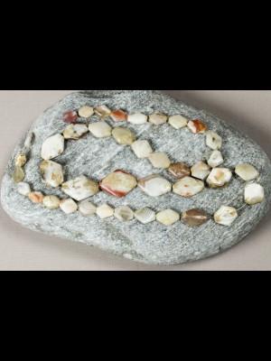 40 perles anciennes en agate