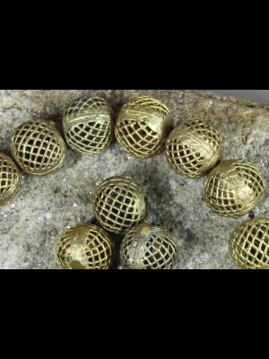 20 perles en laiton
