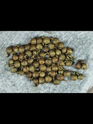 """58 perles """"grelots""""en laiton"""