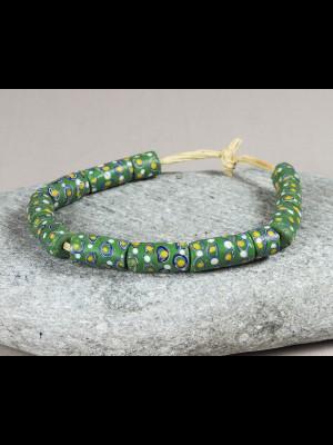 12 rares perles millefiori anciennes