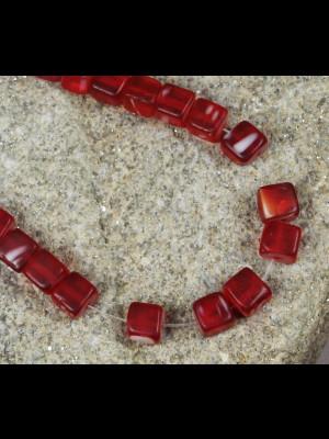 45 perles anciennes du Nigéria en pâte de verre