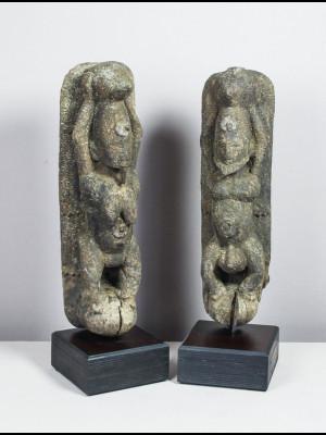 Couple de statuettes dogon (Mali)