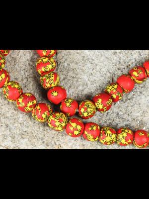 45 perles du Ghana en verre
