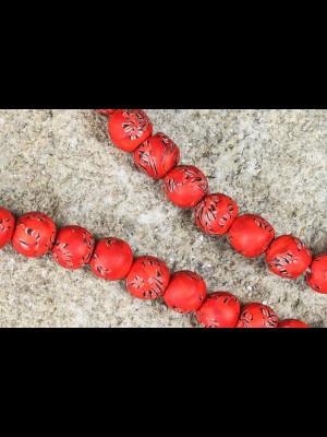 47 perles en verre du Ghana